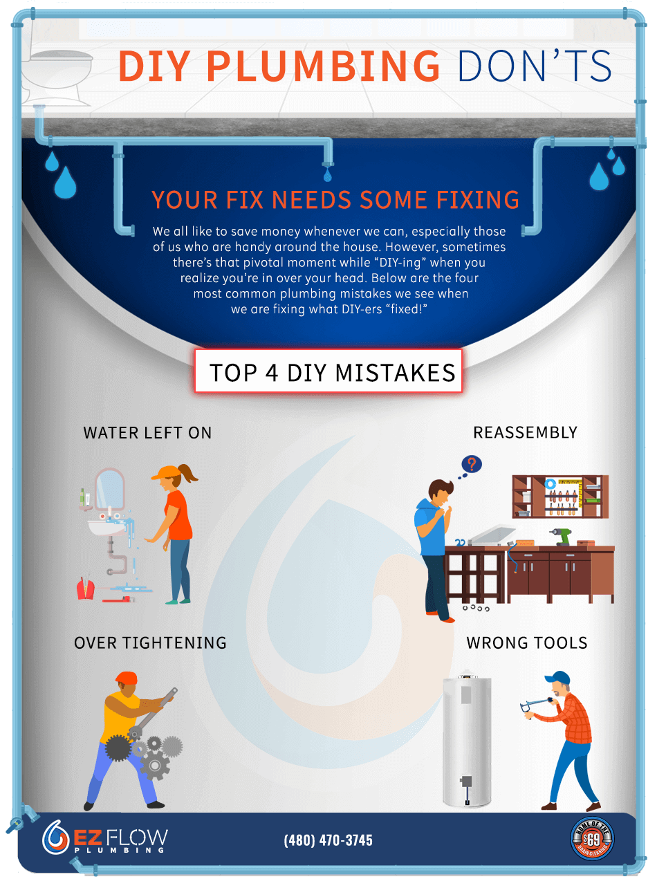 DIY plumbing mistakes infographic